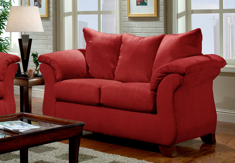 Affordable Sensation Brick Loveseat