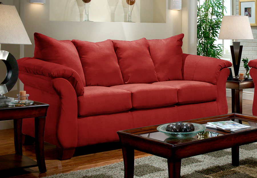 Affordable Furniture Sensation Brick Queen Sleeper Sofa