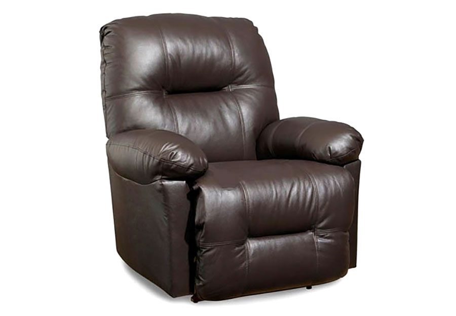 Best Zaynah Chocolate Swivel Rocker Recliner Leather Match