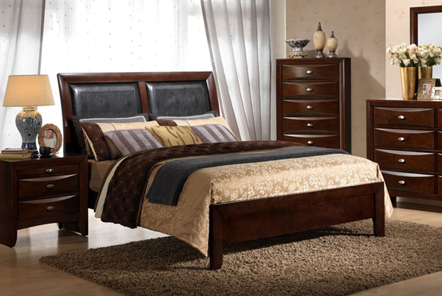 Elements Emily Merlot Queen Headboard, Footboard, and Rails