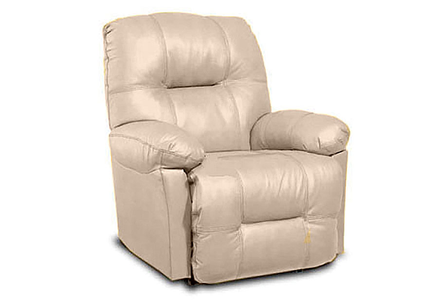 Best Zaynah Power Wall Hugger Recliner in Mushroom Leather Match
