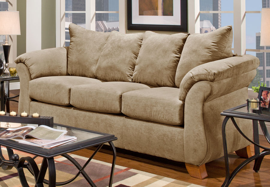 Affordable Furniture Sensation Camel Queen Sleeper Sofa