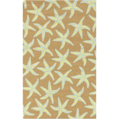Surya Rain Starfish Driftwood Brown Rug - 5 x 8 Indoor/Outdoor