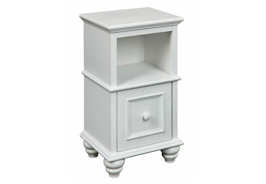Coast to Coast Esserville Cottage White One Drawer Cabinet