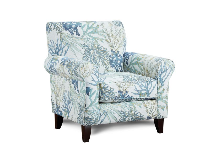 Genial Fusion Coral Reef Accent Chair