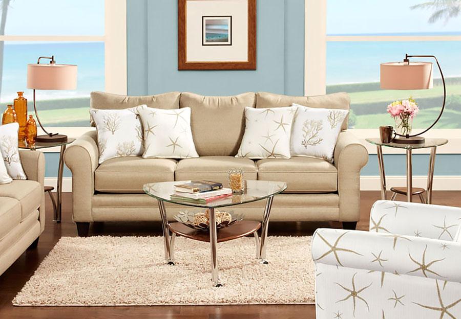 Fusion Vibrant Linen Sleeper Sofa